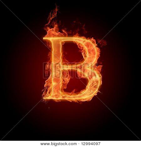 Fiery Font. Buchstabe B