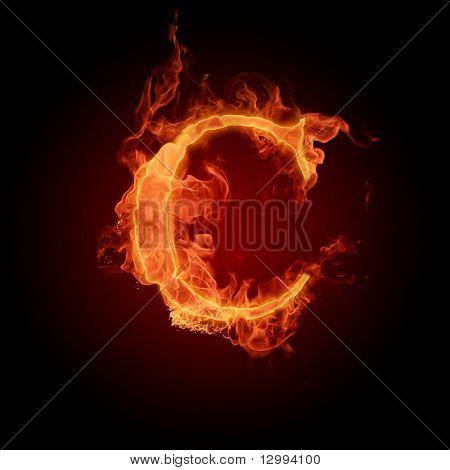 Fuente de fuego. Letra C