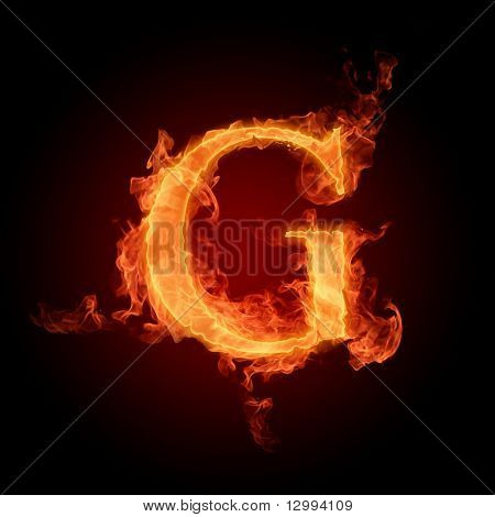 Fuente de fuego. Letra G