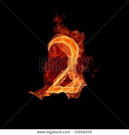 Fiery font. 2