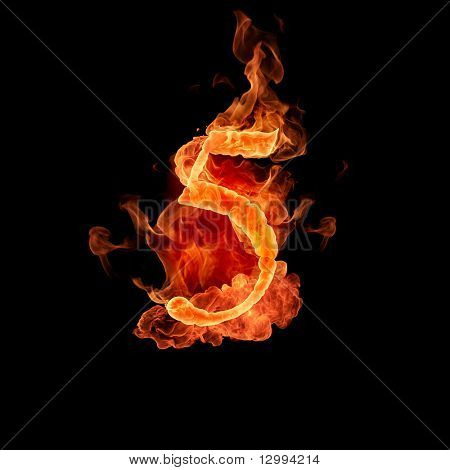 Fiery font. 5