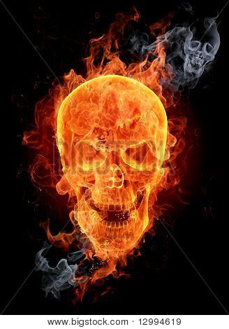 Fire skull. Look at other fire illustrations in my portfolio: burning letters, flowers, girls...