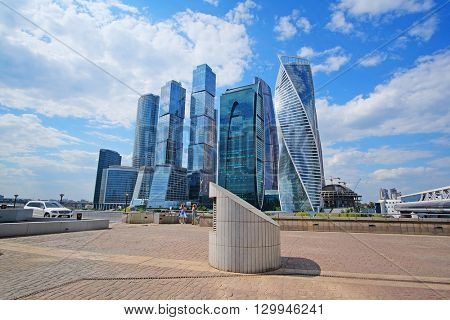 Moscow, Russia - May, 11, 2016: Veiw od skyscrapes of Moscow City, Russia
