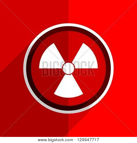 red flat design radiation web modern icon