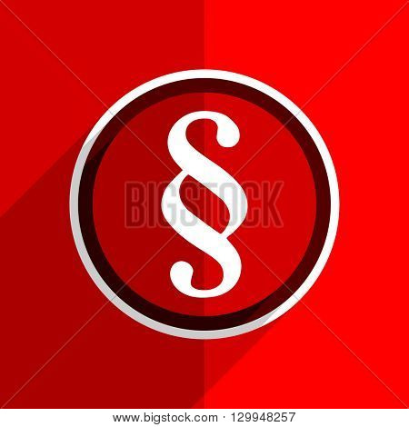 red flat design paragraph web modern icon