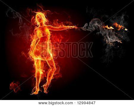Feuer-Mädchen