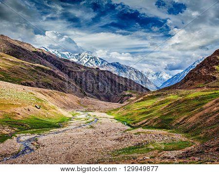 Himalayan landscape. Spiti valley, Himachal Pradesh, India