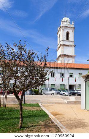 Santarem, Portugal. September 11, 2015:  Tower of the former Trindade Convent.