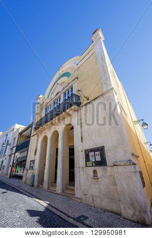 Santarem, Portugal. September 11, 2015:  The historical Sa da Bandeira Theatre.