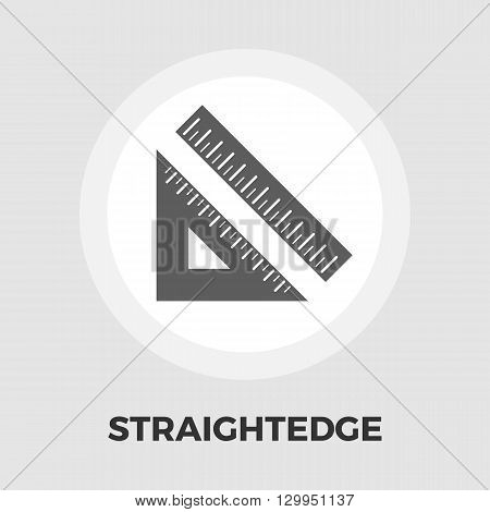 Straightedge icon vector. Flat icon isolated on the white background. Editable EPS file. Vector illustration.