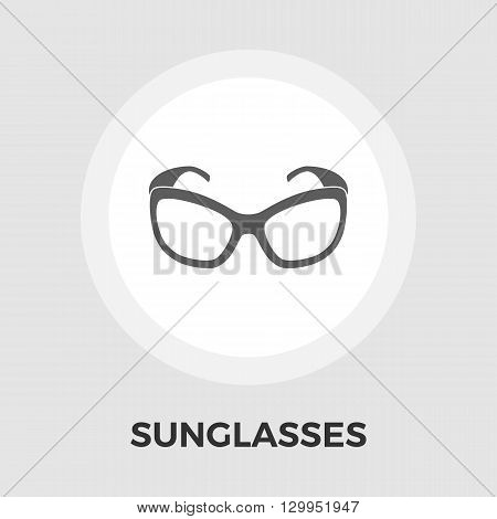 Sunglasses icon vector. Flat icon isolated on the white background. Editable EPS file. Vector illustration.