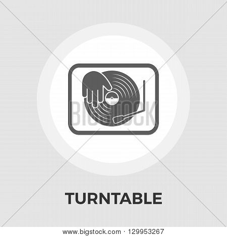 Turntable icon vector. Flat icon isolated on the white background. Editable EPS file. Vector illustration.