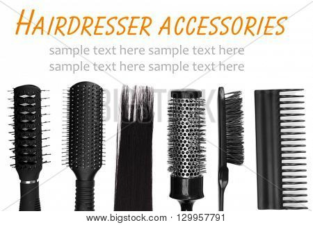Black combs isolated on white