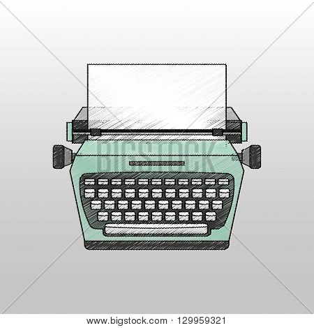 retro typewriter design, vector illustration eps10 graphic