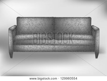 gray sofa. modern sofa in an interior room view