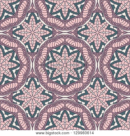 Seamless  Vector  Background With Mandala.  Islam, Arabic, Indian, Ottoman Style. Background, Wallpa