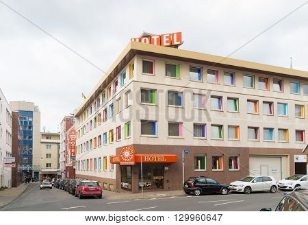 DORTMUND GERMANY - OCTOBER 4 2015: City hotel in Dortmund. With 580000 inhabitants dortmund is the largest city in the Ruhr area
