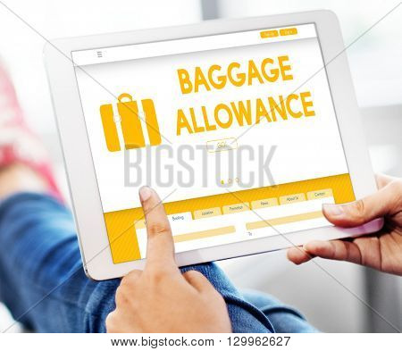 Baggage Luggage Allowance Passenger Plane Concept