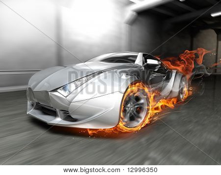 Burnout. My own car design. Not associated with any brand.