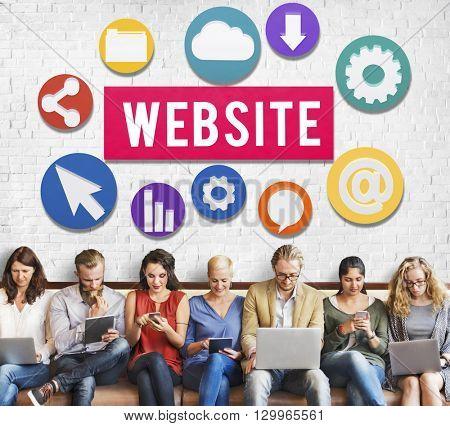 Website Internet Networking Social Browser Data Concept