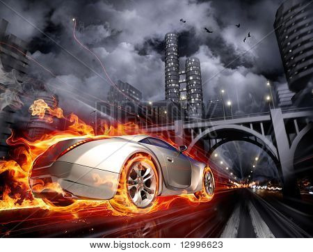 Burnout. Concept car. My own car design. Not associated with any brand.