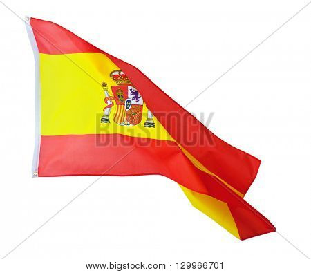 spain flag on white background