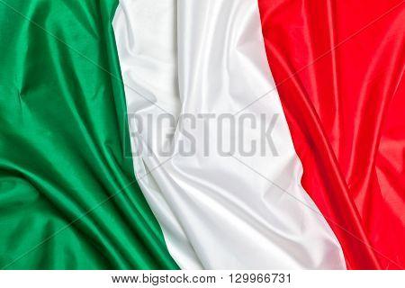 real fabric italian flag background