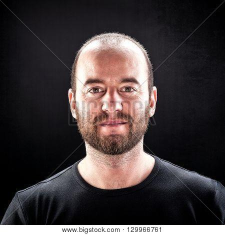 closeup image of caucasian man