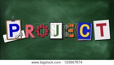 Project Word Operation Plan Job Concept