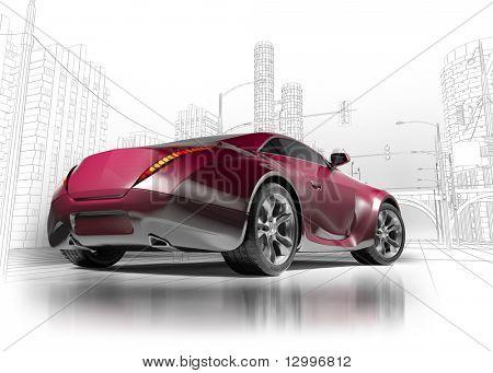 Concept cat.  My own car design.