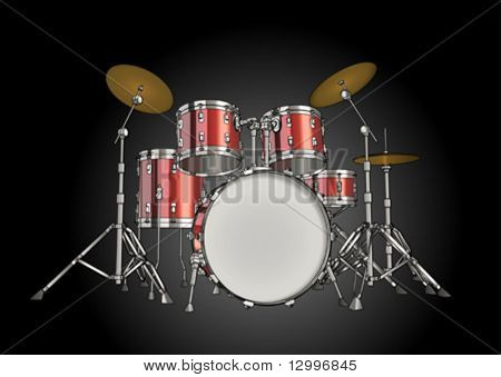 Vector drum kit