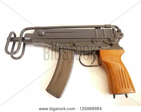 submachinegun skorpion (scorpio) cal 7,62 browning - czech /czechooslovakian handgun (used by police, army etc)