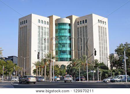 BEER SHEVA ISRAEL - SEPTEMBER 21 2014: Modern building of civil and criminal courts