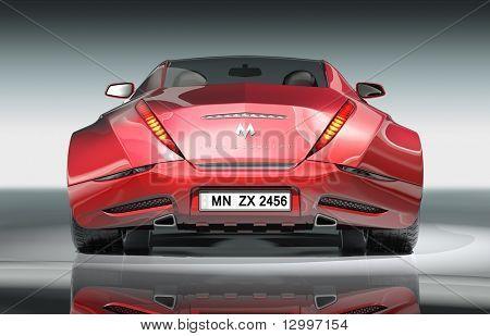 Hybrid car. My own car design.  Logo on the car is fictitious.