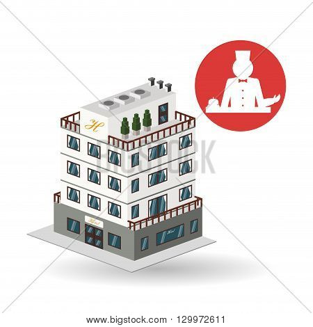 Hotel  concept with icon design, vector illustration 10 eps graphic.