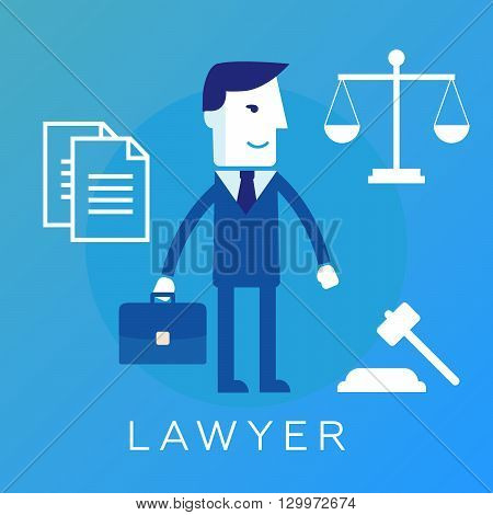 lawyer, attorney or jurist concept background eps10