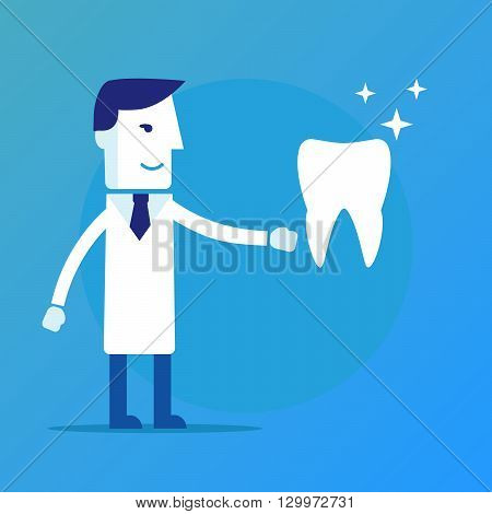 Dentist, a doctor and tooth vector eps 10