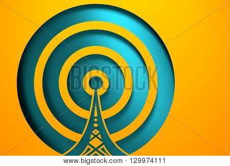 Wi Fi Network Symbol . Mobile gadgets technology relative image. 3D rendering. Cut out icon