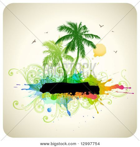 Tropical abstract background