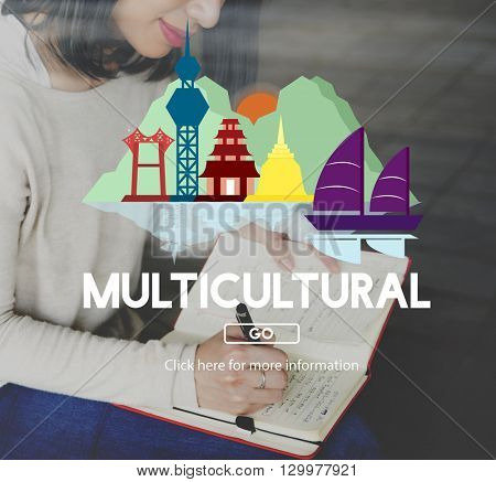 Multicultural Teenager Social Race Lifestyle Mixed Concept
