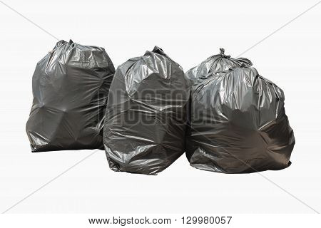 Trash bag isolated on white background Clipping path