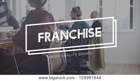 Franchise Merchandise Contract Branding Business Concept