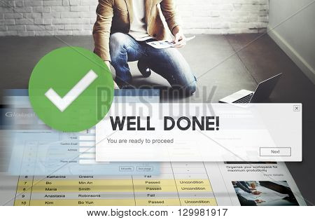 Successful Well Done Accomplishment Achievement Excellence Concept