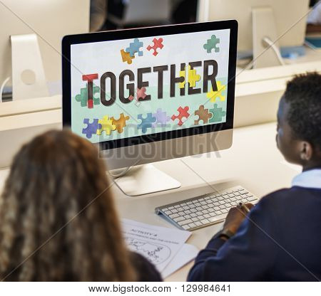 Together Family Friends Society Support Team Concept