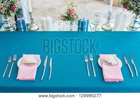 Nicely Decorated Wedding Table