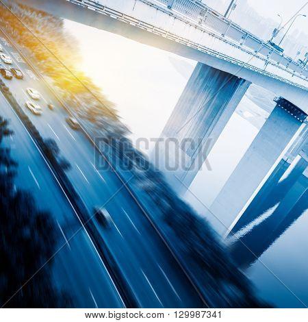 traffic on chongqing flyover