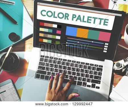 Color Palette Drawing Colouring Digital Concept