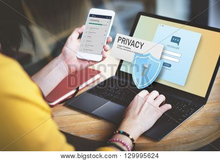 Privacy Confidential Protection Security Solitude Concept