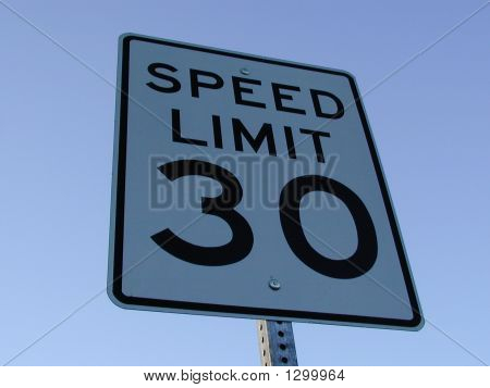 Speed-Limit Sign 30 Mph