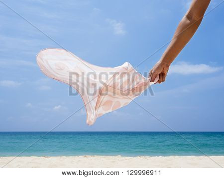 Girl with Handkerchief Beach summer fashion Lifestyle